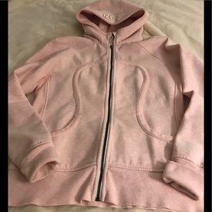 LuluLemon Scuba hoodie ,pink,sz 12
